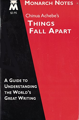 Chinua Achebe's things fall apart (Monarch notes): Gale, Steven H