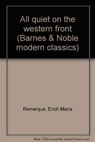 All quiet on the western front (Barnes: Remarque, Erich Maria