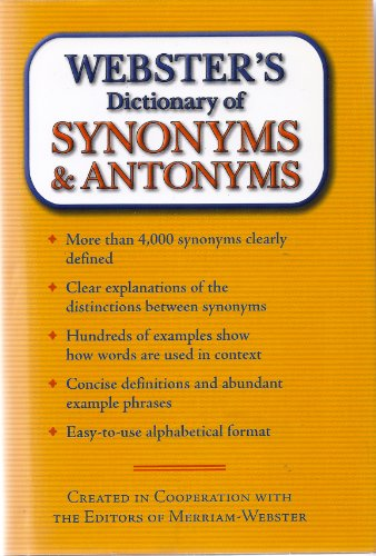 Webster's Dictionary of Synonyms & Antonyms: N/A