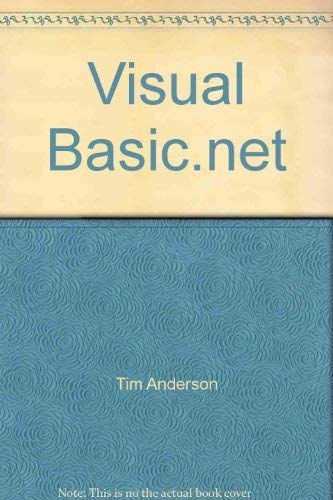 Visual Basic.net (076074789X) by Tim Anderson