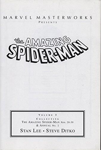 9780760755655: Marvel Masterworks Presents the Amazing Spider-Man Volume 3 (NOS. 20-30&ANNUAL NO. 2)