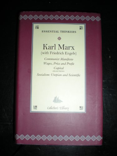Communist Manifesto: Wages, Price and Profit Capital,: Marx, Karl and