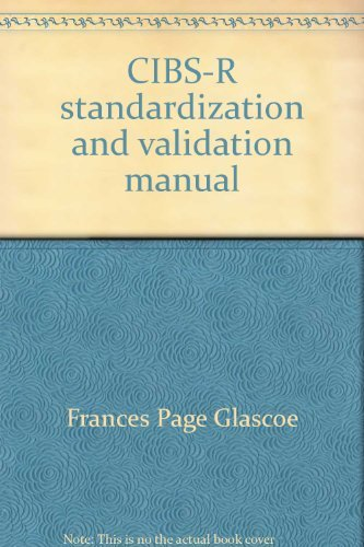 9780760905241 cibs r standardization and validation manual rh abebooks com Brigance Basic Skills Brigance Preschool Screen II