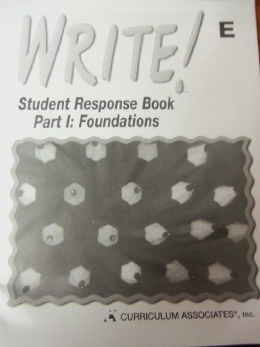 9780760925775: Student ResPonse Book Part 1: Foundations, Write!, E