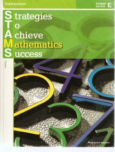 9780760968550: Strategies to Achieve Mathematics Success Stams Series E