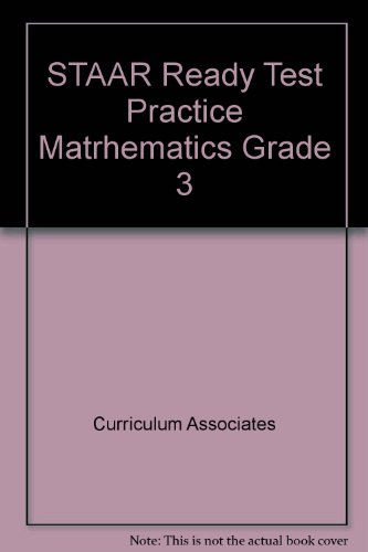 9780760974933: STAAR Ready Test Practice Matrhematics Grade 3