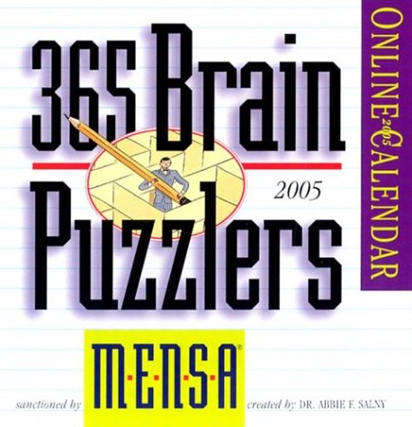 9780761131755: Mensa Brain Puzzlers 2005 (Page-A-Day Calendars)