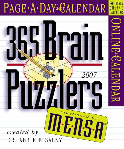 9780761139003: Mensa 365 Brain Puzzlers Page-A-Day Calendar 2007