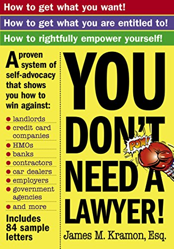 9780761140382: You Don't Need a Lawyer