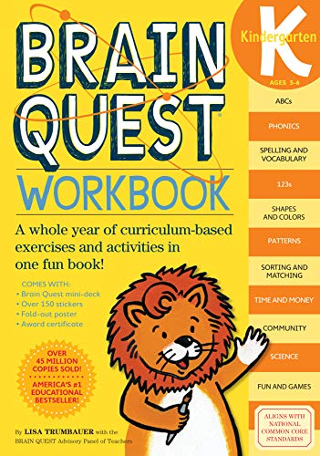 9780761149125: Brain Quest Workbook: Kindergarten