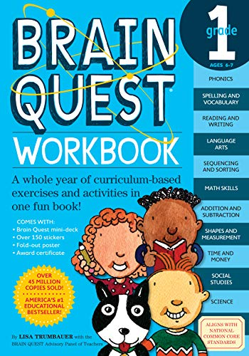 9780761149149: Brain Quest Workbook: Grade 1