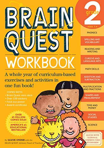9780761149156: Brain Quest Grade 2 Workbook [With Stickers]