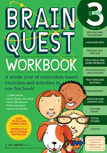 Brain Quest Workbook, Grade 3 : A Whole Year of Curriculum-Based Exercises and Activities in One ...