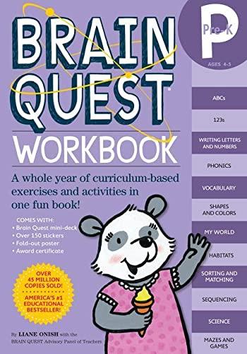9780761149613: Brain Quest Pre-K Workbook [With Stickers]