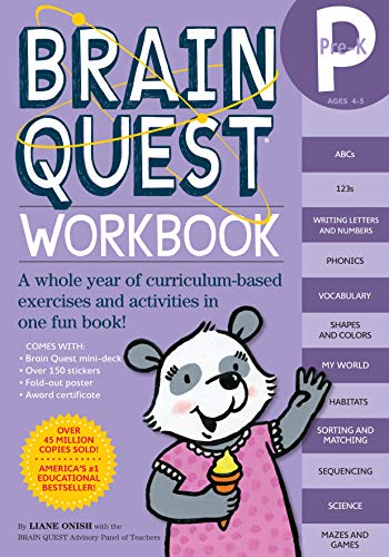 9780761149613: BRAIN QUEST PRE-K WORKBOOK [WITH STICKERS] By Onish, Liane (Author) Paperback on 09-Jul-2008