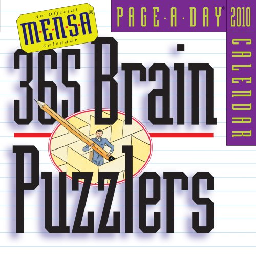 Mensa 365 Brain Puzzlers Page-A-Day Calendar 2010 (Page-A-Day Calendars): Danna, Mark; Simpson, ...