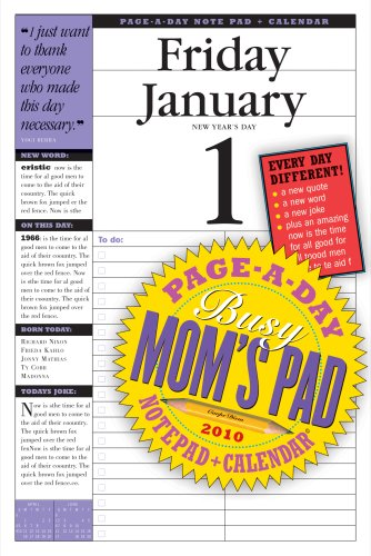 Busy Mom's Page-A-Day Calendar 2010: Workman Publishing