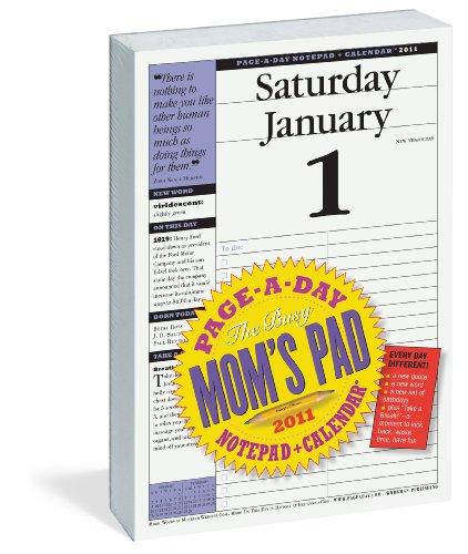 9780761157755: Busy Mom's Page-A-Day Calendar 2011