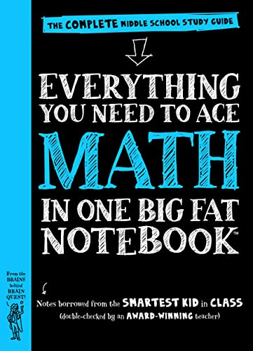 9780761160960: Everything You Need to Ace Math in One Big Fat Notebook: The Complete Middle School Study Guide (Big Fat Notebooks)