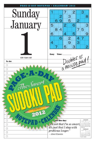 9780761162834: Smart Sudoku Page-A-Day and Notepad 2012 Calendar (Page a Day Notepad Calendar)