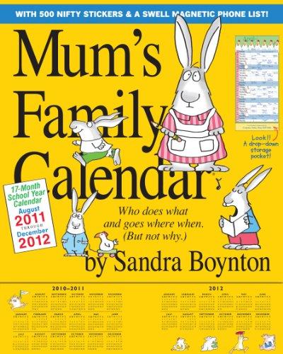 9780761165118: Mum's Family Calendar 2012 (Wall Calendar)