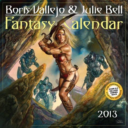 9780761167006: Boris Vallejo & Julie Bell Fantasy Calendar 2013