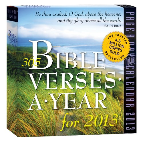 9780761167143: 365 Bible Verses a Year 2013 Page-A-Day Calendar