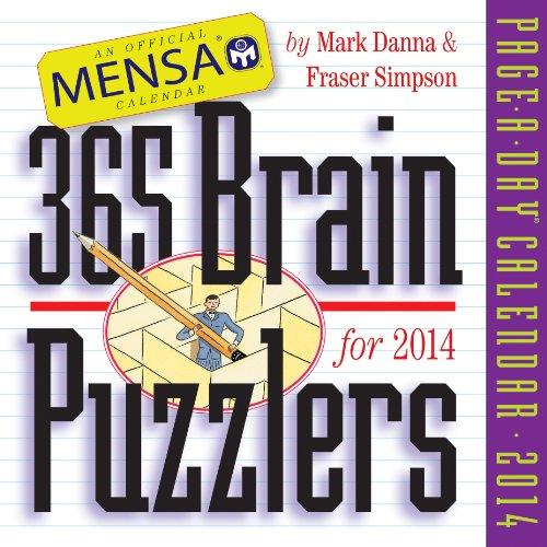 Mensa 365 Brain Puzzlers 2014 Page-A-Day Calendar: Simpson, Fraser; Danna, Mark