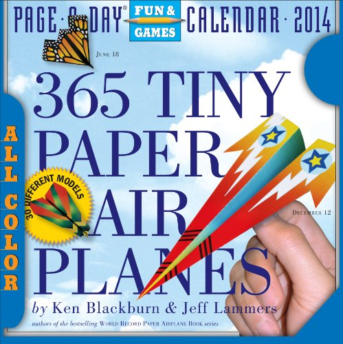 9780761174592: 365 Tiny Paper Airplanes 2014 Calendar