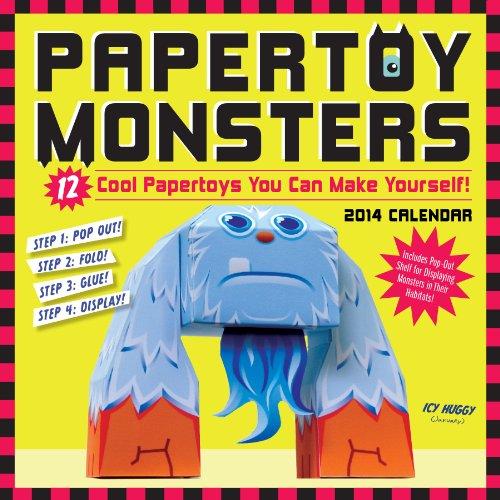 9780761175377: Papertoy Monsters 2014 Wall Calendar