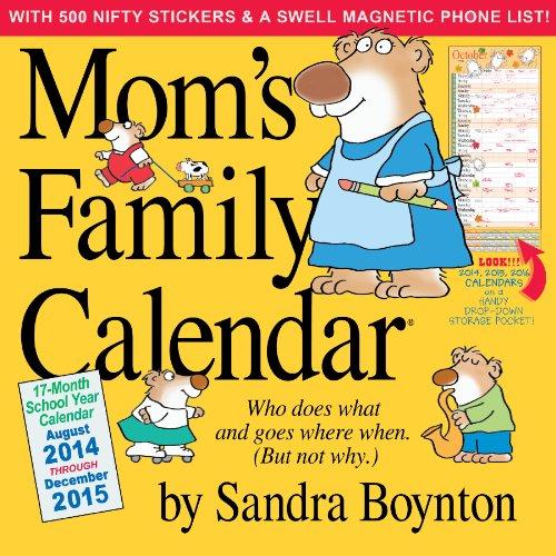 9780761177807: Mom's Family 17-Month 2015 Calendar