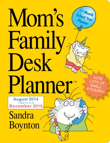 9780761177814: Mom's Family 17-Month Desk Planner