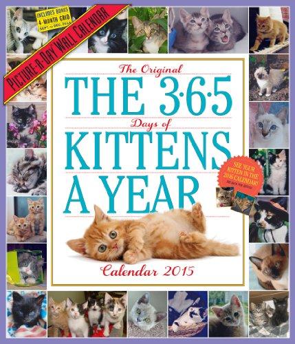 9780761177982: The 365 Kittens-a-Year 2015 Calendar