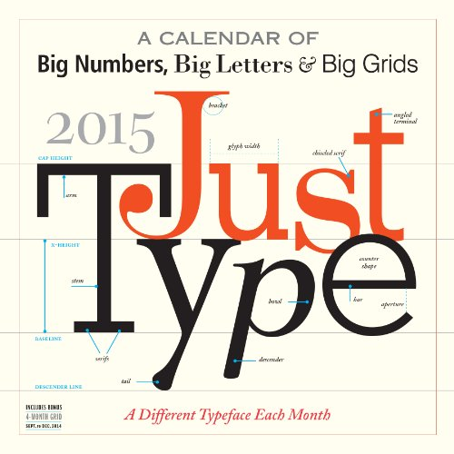 9780761180616: Just Type 2015 Wall Calendar