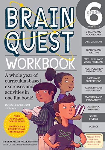 9780761182436: Brain Quest Workbook Grade 6