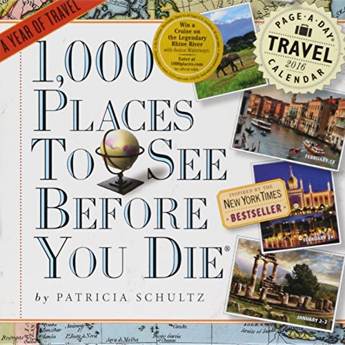 9780761182771: 1,000 Places to See Before You Die Color 2016 Calendar