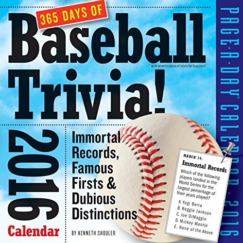 9780761182979: 365 Days of Baseball Trivia! 2016 Calendar