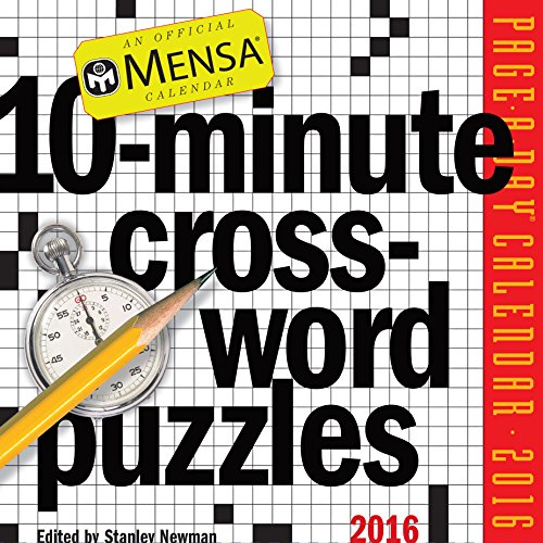 9780761183006: Mensa 10-Minute Crossword Puzzles Page-A-Day Calendar 2016