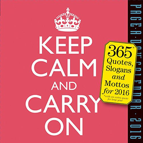 9780761183037: Keep Calm and Carry On 2016 Page-A-Day Calendar (2016 Calendar)