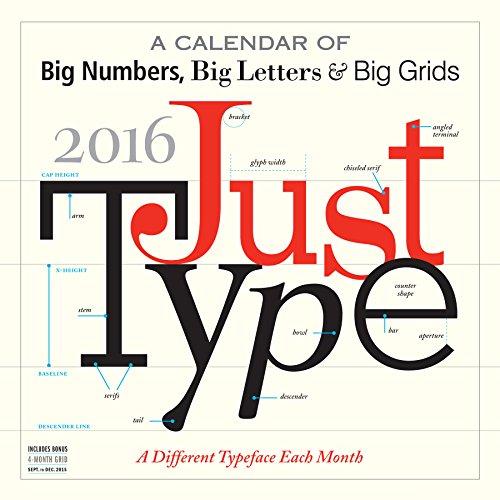 9780761183242: Just Type 2016 Calendar
