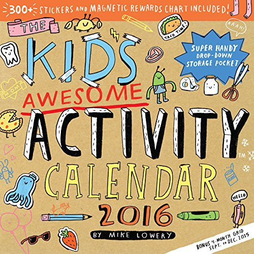 9780761183266: The Kid's Awesome Activity Wall Calendar 2016