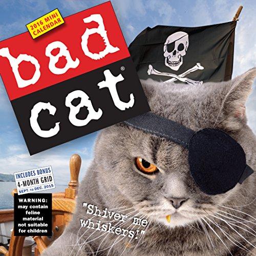 9780761183396: Bad Cat Mini Wall Calendar 2016