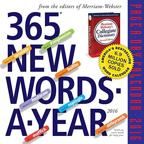 9780761183624: 365 New Words-A-Year Page-A-Day Calendar 2016 (2016 Calendar)