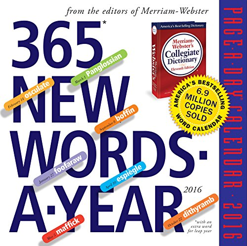 9780761183624: 365 New Words-A-Year Page-A-Day Calendar 2016