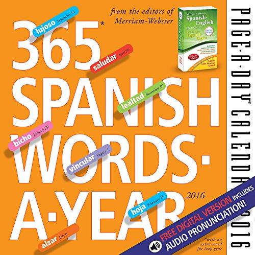 9780761183631: 365 Spanish Words-A-Year Page-A-Day Calendar 2016 (2016 Calendar)