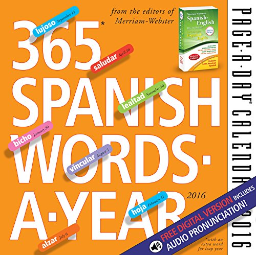 9780761183631: 365 Spanish Words-A-Year Page-A-Day Calendar 2016