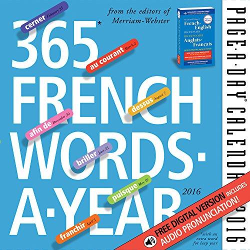 9780761183648: 365 French Words-a-year 2016 Calendar