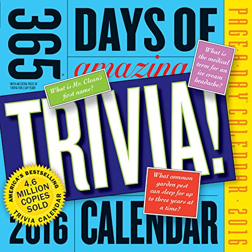 9780761183655: 365 Days of Amazing Trivia! Page-A-Day Calendar 2016
