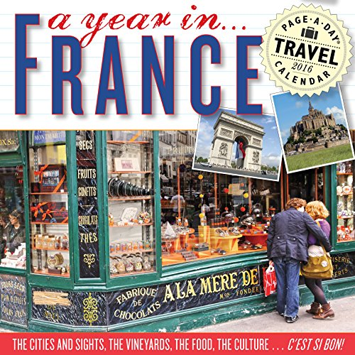 9780761183709: A Year in France Color Page-A-Day Calendar 2016