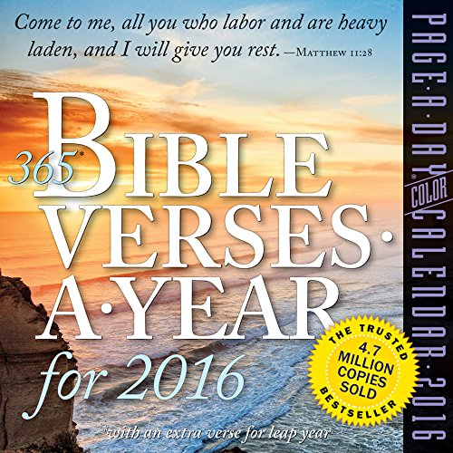 9780761183730: 365 Bible Verses-A-Year Color Page-A-Day Calendar 2016